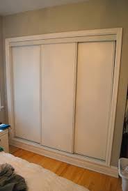 Closet Slide Door 3 Track Sliding Closet Doors