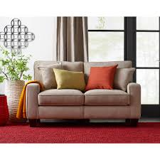 living room alluring beige leather sectional sofa and ottoman