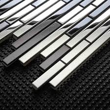 Wholesale Metal Stainless Steel Mosaic Tile For Swimming Pool - Glass and metal tile backsplash