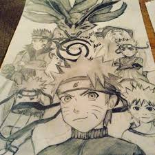 naruto character collage drawing eeyore1998 2017 jan 3 2016