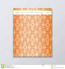 Cover Page Template Magazine Cover With Geometric Patterns Cover Page Template