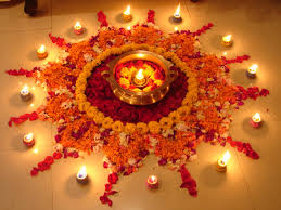 rangoli designs with flowers for diwali diwali pinterest