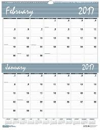 printable 2017 calendar two months per page amazon com house of doolittle 2017 two month wall calendar bar