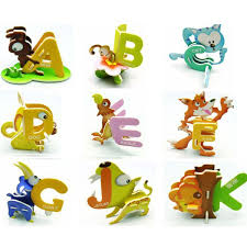 abc animal letter 3d puzzle children intelligence toys puzzle gift