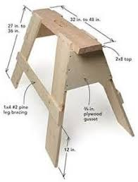 Ana White Sawhorse Desk Learn How To Build An Adjustable Sawhorse Desk Free Plans And
