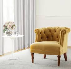 Tufted Accent Chair Katherine Tufted Accent Chair Gold Home