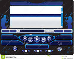 audio video karaoke player template 03 royalty free stock photo