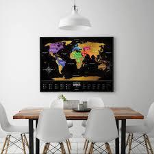 Map Me Home Scratch Off World Map The Best Shop 1dea Me