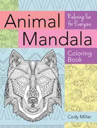 tired stress animal mandala coloring book