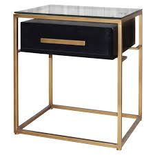 glass top end table with drawer espresso firenze floating end table 1 drawer gold frame in espresso material