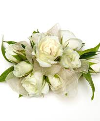 white corsages for prom white sweetheart corsage with wristlet carithers flowers