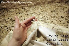 hanging pinch pleat curtains instructions on the v side darn drapes and faking pleats