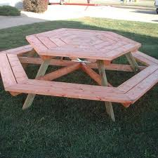 Interesting Octagon Picnic Tables Plans And 7 Best Home by 34 Best Picnic Tables Images On Pinterest Benches Backyard And