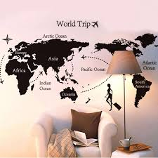 Travel wall ideas world maps fresh wall decor cool 14 travel