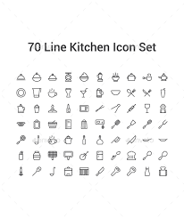kitchen icon 70 line kitchen icon set kitchen icon icon set and icons
