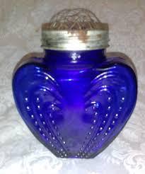 Frog Flower Vase 14 99 Vintage Cobalt Blue Glass Heart Metal Floral Frog Twist Top