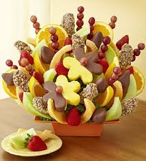 fruit bouquets abundant fruit chocolate tray nancy s floral portland or