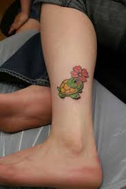 on my leg 33 turtle leg on tattoochief com
