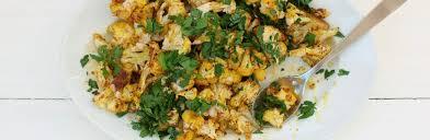 shawarma spiced cauliflower with lemon tahini dressing recipe from