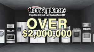 dons appliance fall warehouse sale youtube