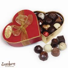 heart box of chocolates small heart box saunders chocolates