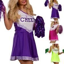 halloween costume cheerleader varsity cheer cheerleader fancy dress up uniform w