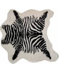 Faux Cowhide Rugs Incredible Deal On Luxe Faux Cowhide Zebra Black Throw Rug 4 U0027 X 5