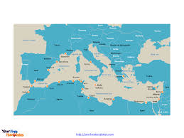 World Map With Seas by Free Mediterranean Sea Editable Map Free Powerpoint Templates