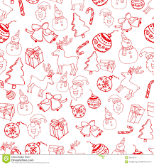 red seamless christmas pattern vector stock vector image 35914071
