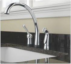 delta stainless 1 handle high arc kitchen faucet with side spray