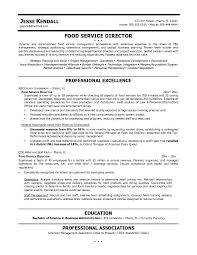 Service Delivery Manager Sample Resume by Free Food Service Director Resume Example