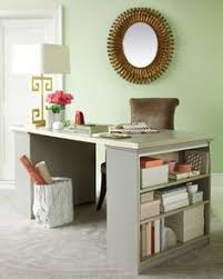 Bookcase Desk Diy Adorable Little Office Space The Fabricated Piece Of Wood Acts As