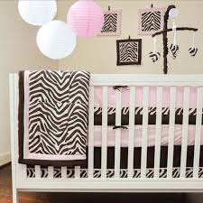 Brown And Pink Crib Bedding Pam Grace Creations Zara Zebra 10 Crib Bedding Set Walmart