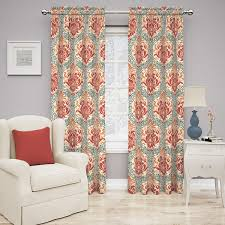 Waverly Curtain Panels Traditions By Waverly Dressed Up Damask Curtain Panel Free