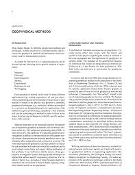 chapter two geophysical methods use of geophysics for