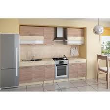 cuisine couleur bois cuisine complète de 2m10 elise couleur bois achat vente cuisine