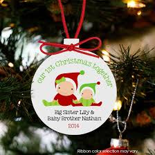 Personalized Christmas Ornaments Baby Personalized Christmas Ornament Baby U0027s First And Siblings Custom