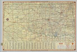 Map Of Oklahoma State by Shell Highway Map Of Oklahoma David Rumsey Historical Map