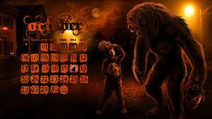 halloween desktop background october werewolf desktop wallpaper calendar by viergacht on deviantart