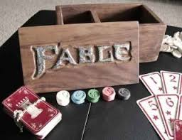 fable 2 pub games handmade fable fortune s tower card set a limited edition of one