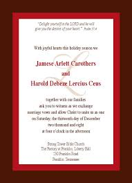 Examples Of Wedding Program Wedding Invitations Examples Rectangle Potrait Red Ivory Beautiful