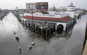 New Orleans Flood Map by A Flooded Street In Downtown New Orleans Hurricane Katrina
