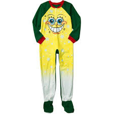 Spongebob Squarepants Halloween Costume Nickelodeon Boys U0027 Spongebob Squarepants Footy Pajamas Walmart