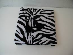 8 X 10 Photo Album Zebra Album Binder Photo Albums Fabric Covered Album Animal