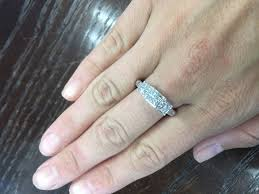 engagement rings size 8 14k white gold 1 60ct princess past present future