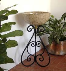 ornamental iron bathroom sink stand vessel sink stand nico