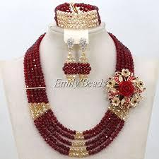 gold beaded necklace india images Fantastic wine burgundy beads indian bridal jewelry set gold jpg