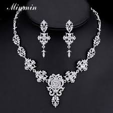 crystal choker necklace wedding images Minmin classic crystal bridal jewelry sets silver gold color jpg