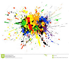 Paint by Splatter Clipart Paint Spill Pencil And In Color Splatter