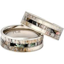 comfort fit titanium mens wedding bands deer antler ring with camo inlay 8mm titanium mens wedding band